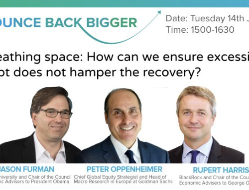 Breathing space: How do we ensure excessive debt does not hamper the recovery?